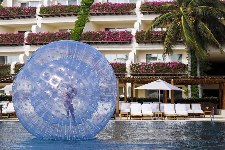 Hamster Ball and other activities for all ages at Grand Velas resorts