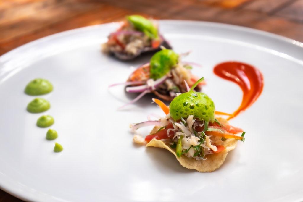 Crab salpicon tostadas