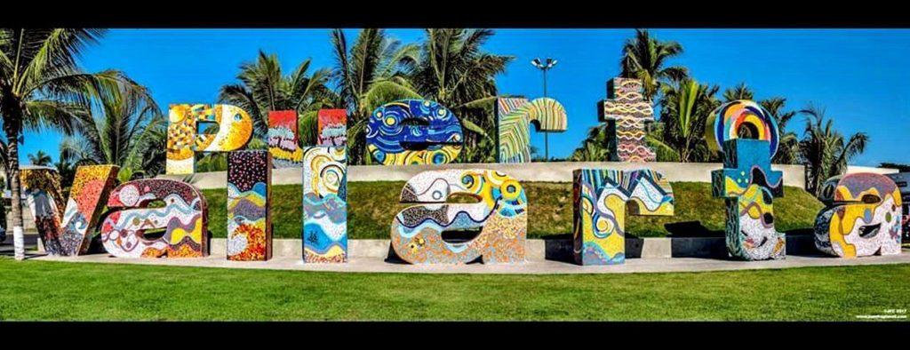 Letras de bienvenida de Puerto Vallarta