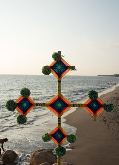 Huichol God's Eye from Sierra Madre Occidental region at Vallarta-Nayarit