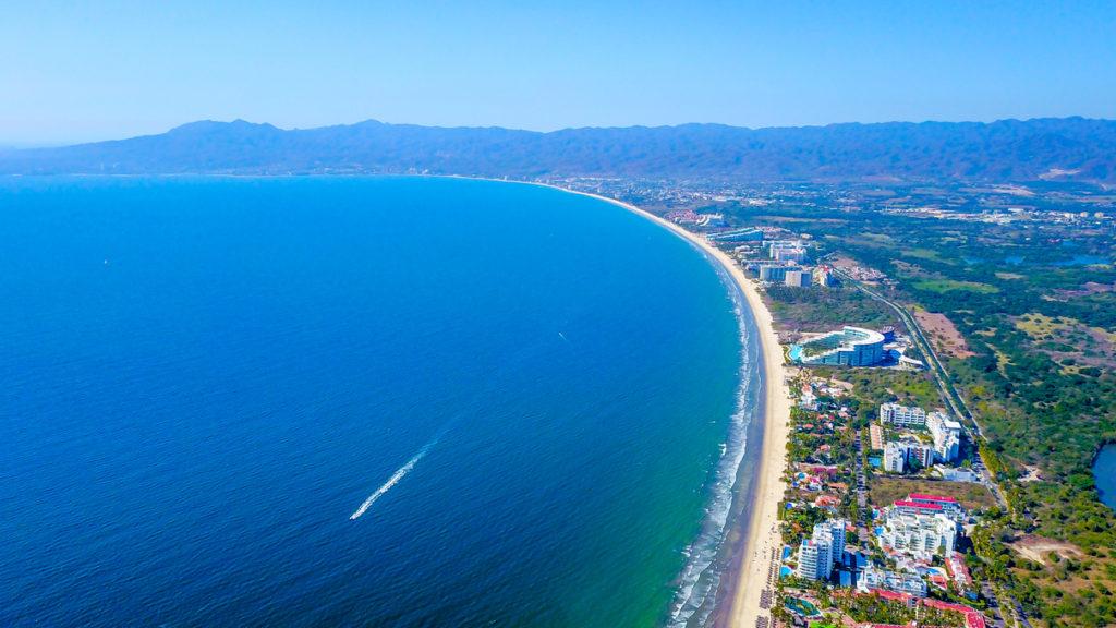 Playa de Nuevo Vallarta en Riviera Nayarit en Bahía de Banderas