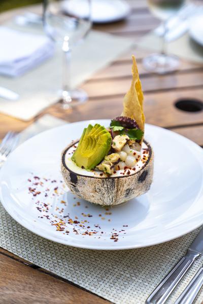 Sea Snail Ceviche, popular snack in Riviera Maya, Mexico