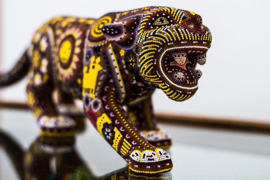Escultura de la cultura huichol en Riviera Nayarit y Puerto Vallarta