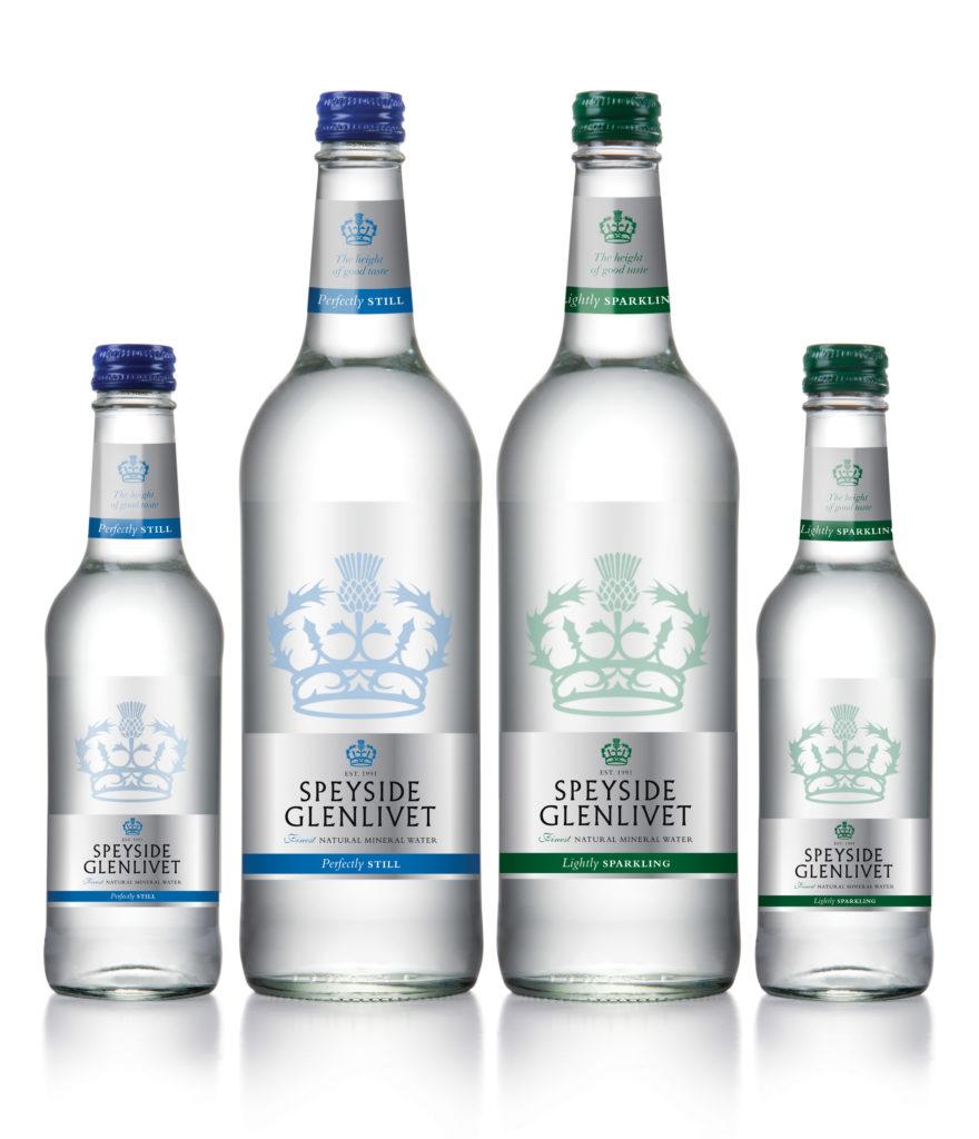 Natual mineral water Speyside Glenlivet brand