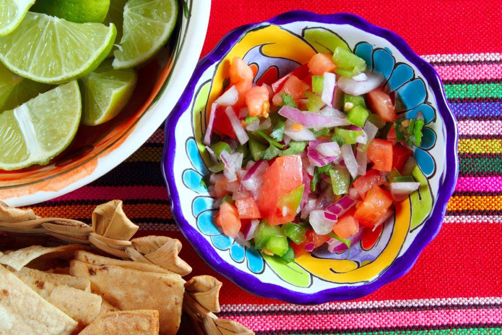 Salsa mexicana de pico de gallo