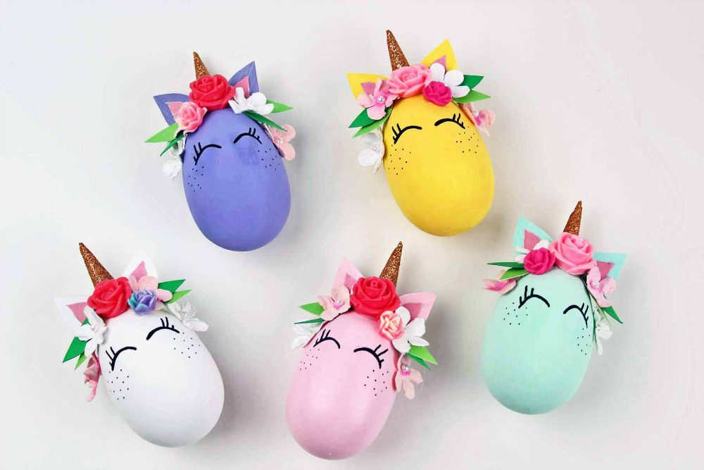 Unicorn Easter eggs decoration