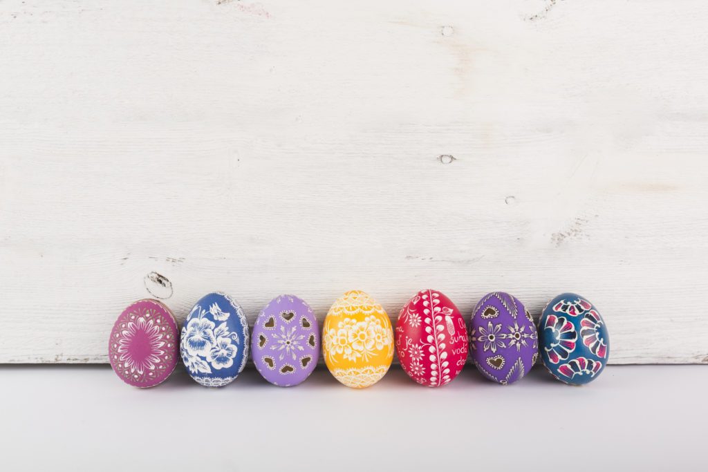Mexican style Easter eggs decoration