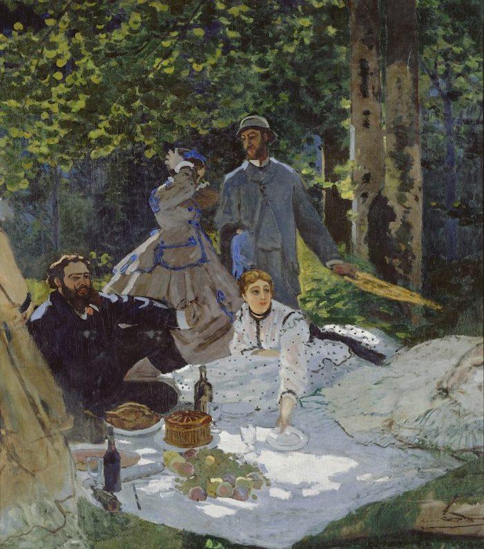 Esta imagen tiene un atributo ALT vacío; su nombre de archivo es El-almuerzo-sobre-la-hierba-Monet.jpeg
